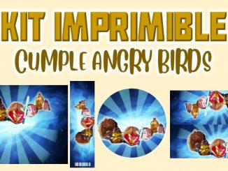 Kit Imprimible cumple Angry Birds muestra