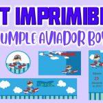 Kit Imprimible de Aviador para Cumpleaños