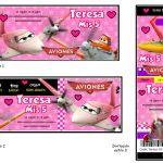 Kit Imprimible cumple Aviones girl 02
