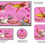 Kit Imprimible cumple Aviones girl 04