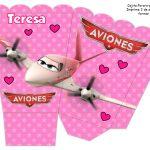 Kit Imprimible cumple Aviones girl 08
