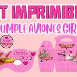 Kit Imprimible de Aviones para Cumpleaños Niña