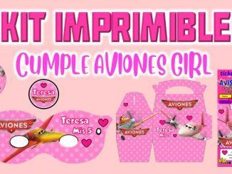 Kit Imprimible cumple Aviones girl MUESTRA