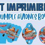 Kit Imprimible de Aviones para Cumpleaños Niño