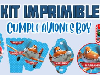 Kit Imprimible cumple Aviones nino MUESTRA
