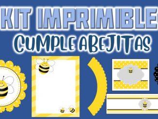 Kit Imprimible cumple abejitas muestra