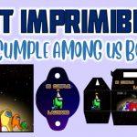 Kit Imprimible de Among us para Cumpleaños