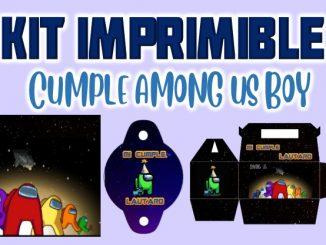 Kit Imprimible cumple among us MUESTRA