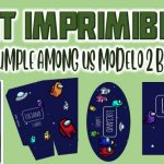 Kit Imprimible de Among us Modelo 2 para Cumpleaños