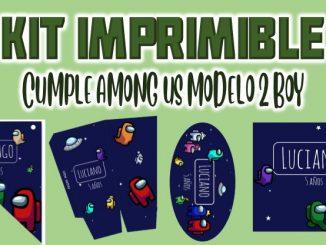 Kit Imprimible cumple among us modelo muestra
