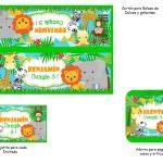 Kit Imprimible cumple animalitos de la selva 04
