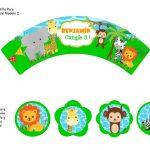 Kit Imprimible cumple animalitos de la selva 08