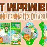 Kit Imprimible de Animalitos de la Selva para Cumpleaños