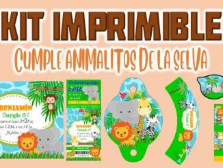 Kit Imprimible cumple animalitos de la selva muestra