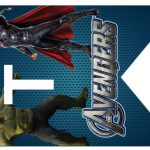 Kit Imprimible cumple avengers 44