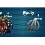 Kit Imprimible cumple avengers 52