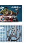 Kit Imprimible cumple avengers 60