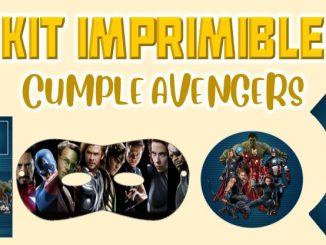Kit Imprimible cumple avengers MUESTRA