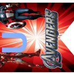 Kit Imprimible cumple avengers modelo 2 42
