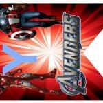 Kit Imprimible cumple avengers modelo 2 44