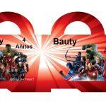 Kit Imprimible cumple avengers modelo 2 51