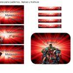 Kit Imprimible cumple avengers modelo 2 63