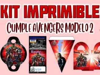 Kit Imprimible cumple avengers modelo 2 Muestra