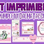 Kit Imprimible de 101 Dalmatas para Cumpleaños Niña
