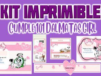 Kit Imprimible cumpleanos 101 dalmatas MUESTRA