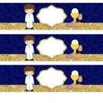 Kit Imprimible dorado comunion 14