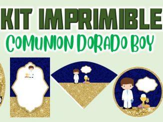 Kit Imprimible dorado comunion muestra
