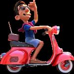 Luca Moto Disney personajes