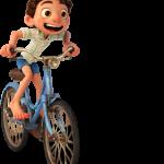 Luca en Bicicleta