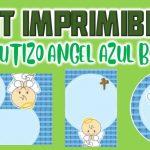 Kit Imprimible de Angelito Azul para Bautizo Niño