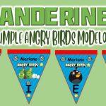 Banderines de Angry Birds Modelo 2 para Cumpleaños