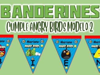 banderin Angry Birds Modelo 2 para cumple MUESTRA