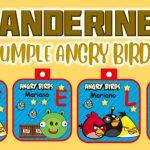 Banderines de Angry Birds para Cumpleaños