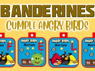 banderin Angry Birds para cumple muestra