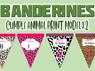 banderin Animal Print Modelo 2 para cumple MUESTRA
