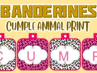 banderin Animal Print para cumple muestra