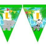 banderin cumple animalitos de la selva 02