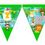 banderin cumple animalitos de la selva 03