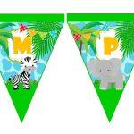 banderin cumple animalitos de la selva 05