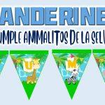 Banderines de Animalitos de la Selva para Cumpleaños