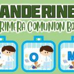 Banderines para Primera Comunión Niño