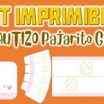 Kit Imprimible de Pajarito para Bautizo Niña