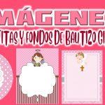 Imagenes de Cajitas y Fondos de Bautizo Niña