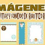 Imagenes de Cajitas y Fondos de Bautizo Niño