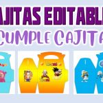 Cajitas Editable Modelo 2 para Cumpleaños