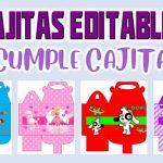 Cajitas Editable para Cumpleaños
